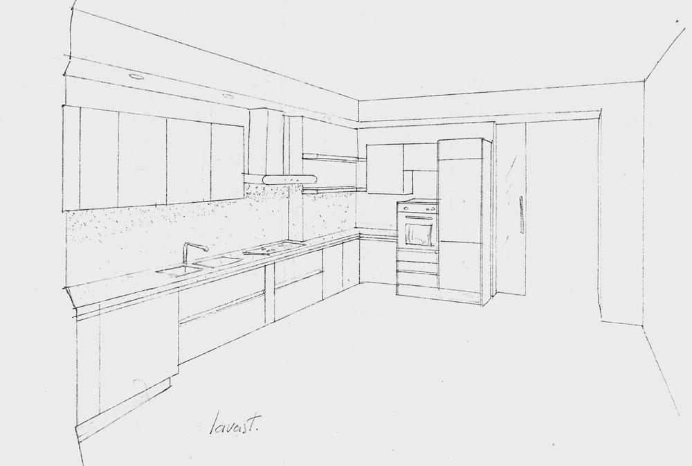Disegno cucina angolare xf39 pineglen - Misure cucine ad angolo ...