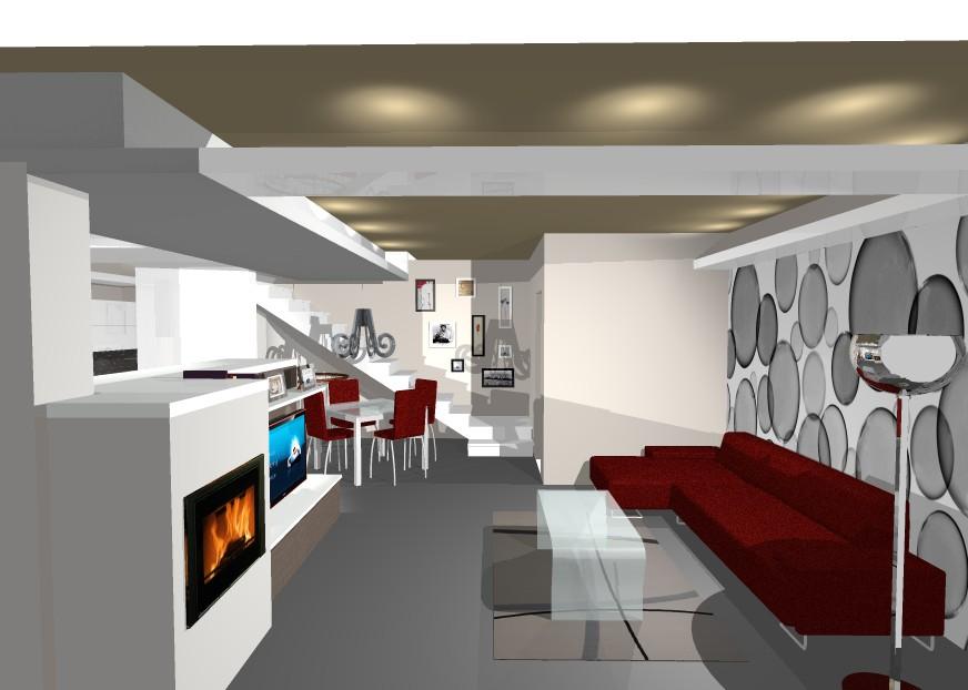 Progettazione su misura farolfi casa for Progetto zona giorno