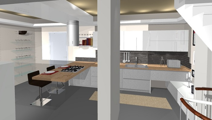 Cucine Moderne Bianche Lucide. Cucina Country Bianca With Cucine ...