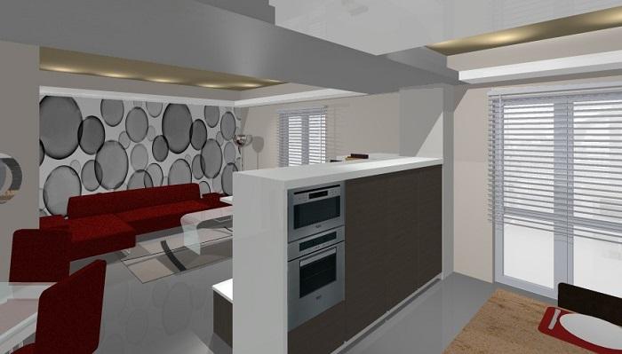 Progetto cucina living farolfi casa for Cucina living