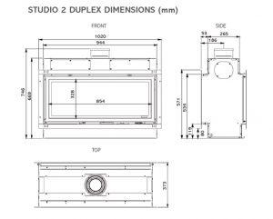 dimensioni studio duplex gas - Farolfi Casa