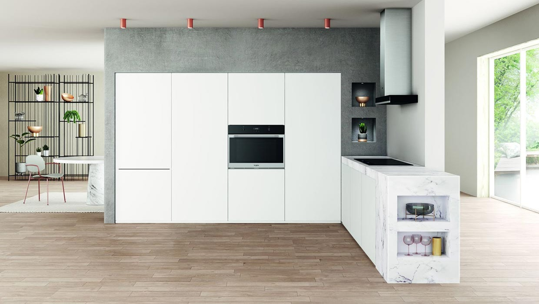 Cucina-con-forno-75-e-frigo-75-Farolfi-Casa